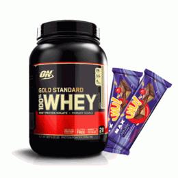 100% Whey Protein Gold Standard (909g) + 2 UAU Protein Bar (