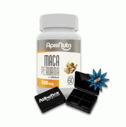 Maca Peruana 500 mg (60 Caps) + Porta Cápsula